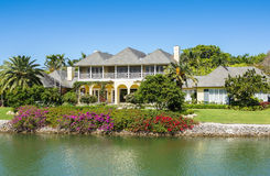 Waterside Home in Naples, Florida Royalty Free Stock Photos