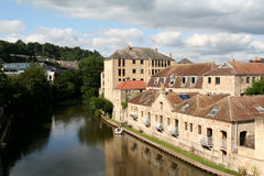 Waterside Homes in the City of Bath. Stock Images