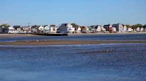 Waterside houses Stock Images