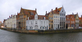 Waterside houses in city Stock Image
