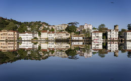Waterside houses in Istanbul Royalty Free Stock Photography