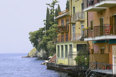 Waterside Malcesine Royalty Free Stock Images