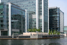 Waterside offices. Modern prestigious waterside offices in Canary Wharf Royalty Free Stock Photography
