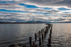 By the waterside in Puerto Natales, Chile Royalty Free Stock Images