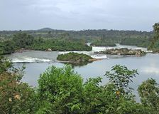 Waterside River Nile scenery near Jinja in Africa Royalty Free Stock Photography