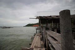 Waterside by the sea at Koyo Songkhla thailand. Life style Waterside by the sea it's show the life of fisherman Royalty Free Stock Photography