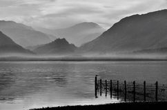 Sheep fence, Derwentwater, Cumbria Stock Images