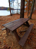 Waterside table Royalty Free Stock Photos