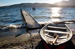 Waterside of Te Anau Stock Photography
