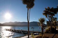 Waterside of Te Anau, New Zealand Stock Image