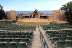 Waterside Theatre. At the Fort Raleigh National Historic Site on Roanoke Island, North Carolina stock images