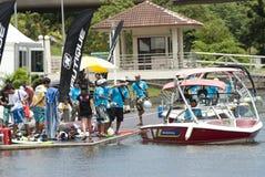 waterski πληρωμάτων ανταγωνισμού & στοκ εικόνα