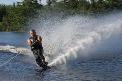 Waterski 2. Waterskiier making very nice spray Royalty Free Stock Photography