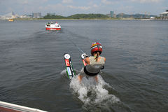 Waterski in Action Stock Photo