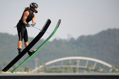 Waterski in Action Stock Images