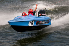 Waterski racing boat Royalty Free Stock Photo