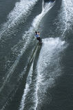 waterskier的活动 免版税库存照片