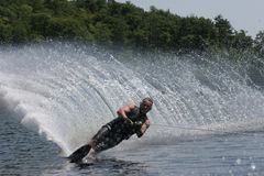 Waterskier. Cutting Hard stock images