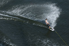 Waterskier in action Royalty Free Stock Photos