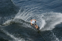 Waterskier in action Royalty Free Stock Image