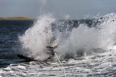Waterskier Falling stock image