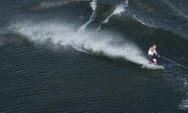 Waterskier na ação Imagem de Stock Royalty Free