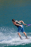Waterskiier stock image