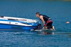 Waterskiier royalty free stock photos