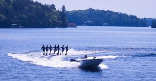 waterskiiers Royalty-vrije Stock Foto