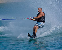 Waterskiing competition Stock Image