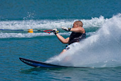 Waterskiing competition Stock Photography
