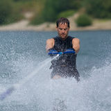 Waterskiing competition royalty free stock images