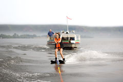 Waterskiing girl Royalty Free Stock Photo
