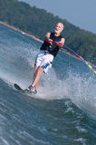 Waterskiing senior Stock Photography