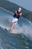 Waterskiing senior Stock Photography