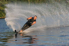 Waterskiing in the Summer. Waterskiing on the Lake Stock Photos