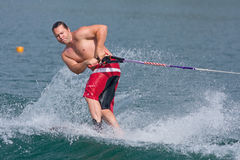 Waterskiing trick competition Royalty Free Stock Photos