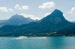 Waterskiing on the Wolfgangsee Stock Photography