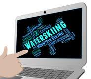 Waterskiing Word Represents Watersport Waterskier And Wordcloud. Waterskiing Word Indicating Watersports Text And Sport Royalty Free Stock Images
