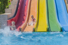 Waterslide in an aquapark Royalty Free Stock Photography