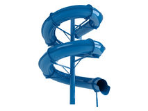 Waterslide azul Fotografia de Stock Royalty Free