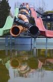 Waterslide espiral y ondulado Fotos de archivo