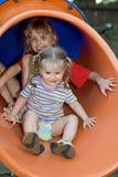waterslide för barn två arkivfoto