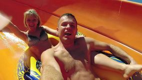 On waterslide stock footage