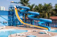 Waterslide no recurso de feriado Foto de Stock Royalty Free