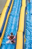 waterslide riding в 500 ног Стоковое фото RF