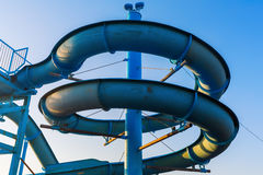 Waterslide of a swimming bath Royalty Free Stock Photo