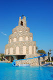 Waterslide and swimming pool Stock Image