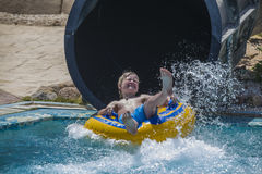 Waterslide in a tube, picture 2 Stock Photo