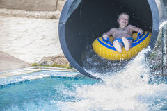 Waterslide in a tube, picture 1 Stock Photos